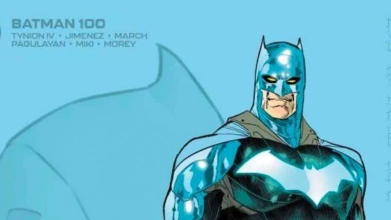 Batman aparece de uniforme azul em edição 100 da HQ