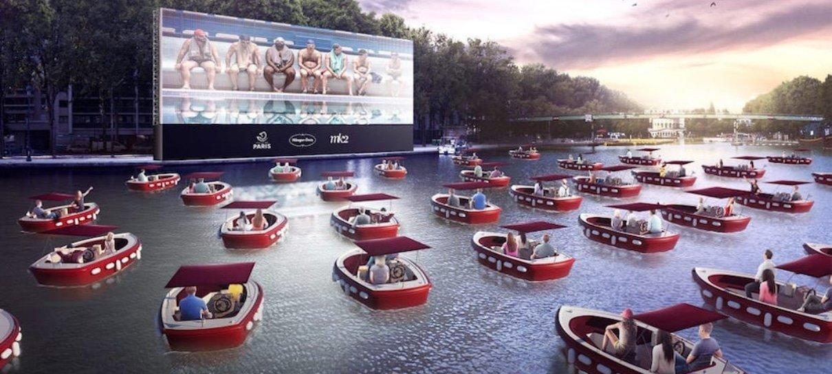Rede de cinemas inova e começa a exibir filmes em rios e lagos
