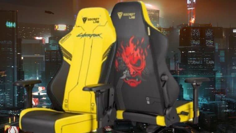 Essa cadeira gamer de Cyberpunk 2077 pode ser sua por US$ 449