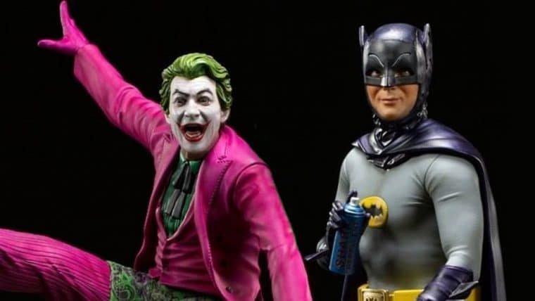 Iron Studios revela colecionáveis do Coringa e do Batman inspirados na série de 1966