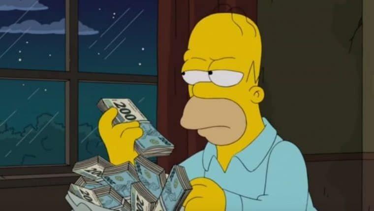 Os Simpsons | Nota de R$ 200 apareceu em episódio de 2014