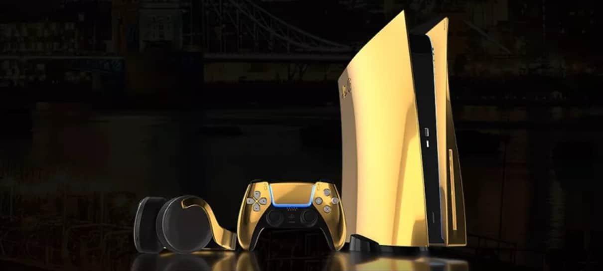 PlayStation 5 terá edição banhada a ouro