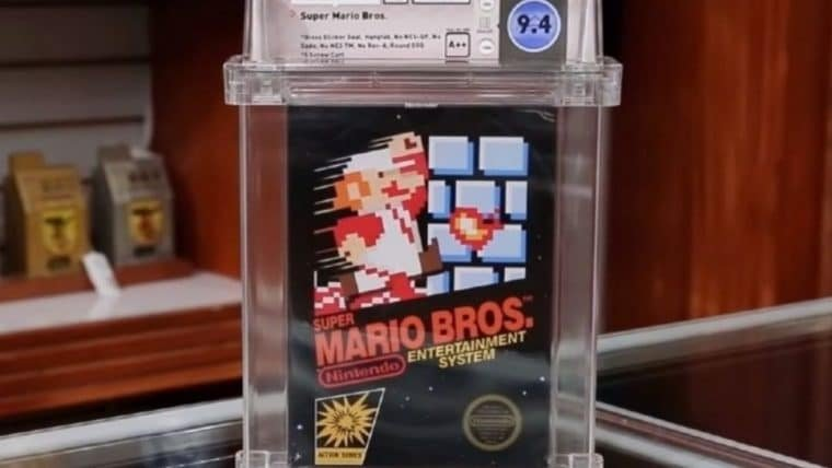 Cópia lacrada de Super Mario Bros. é vendida por US$ 114 mil em leilão