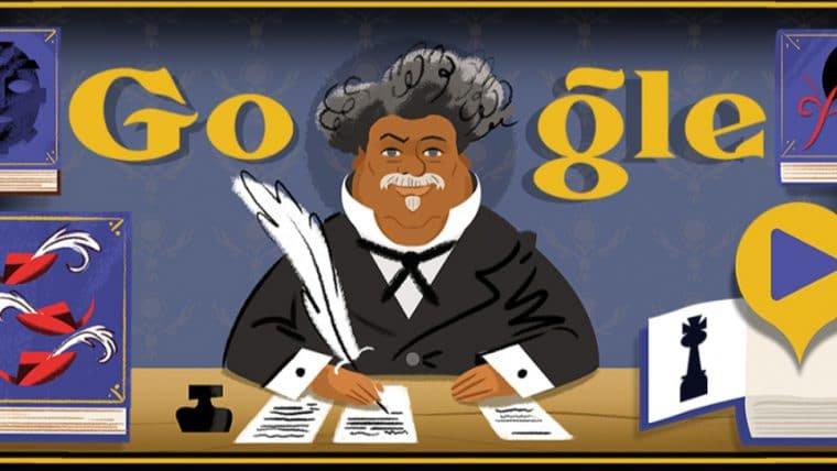 Google Doodle homenageia Alexandre Dumas, autor de O Conde de Monte Cristo