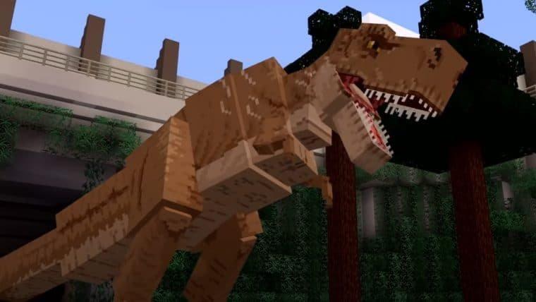 Minecraft recebe dinossauros em DLC de Jurassic World