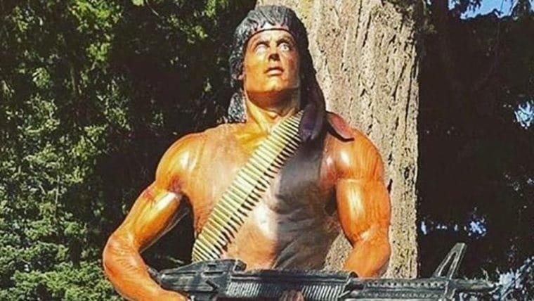 Rambo é homenageado com duas estátuas no Canadá e Stallone agradece