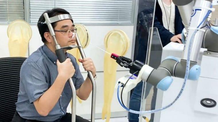 Empresa está testando um robô para fazer exames do novo coronavírus