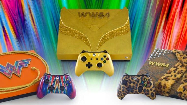 Xbox revela três consoles especiais em parceria com Mulher-Maravilha 1984