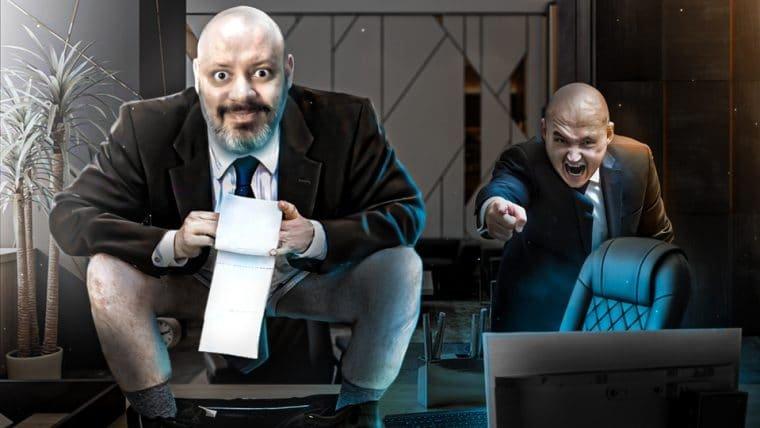 💩 na mesa do chefe!