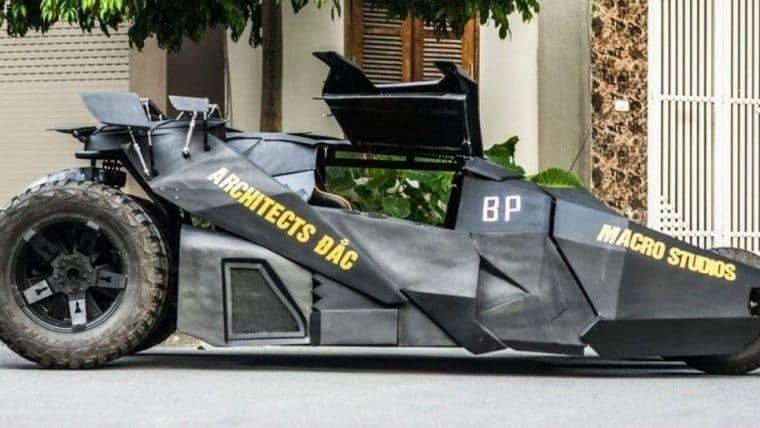 Batman | Estudante constrói Batmóvel inspirado na trilogia O Cavaleiro das Trevas
