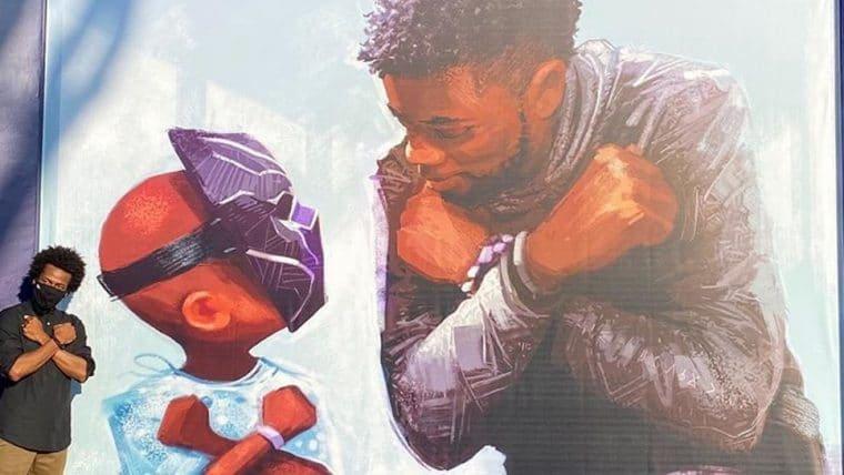 Disney inaugura mural com homenagem a Chadwick Boseman