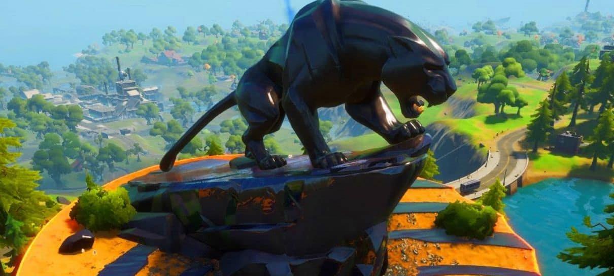 Fortnite adiciona estátua do Pantera Negra e fãs prestam homenagens
