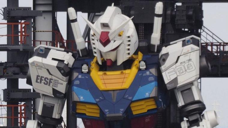Estátua de Gundam em tamanho real e com movimentos está em fase de testes