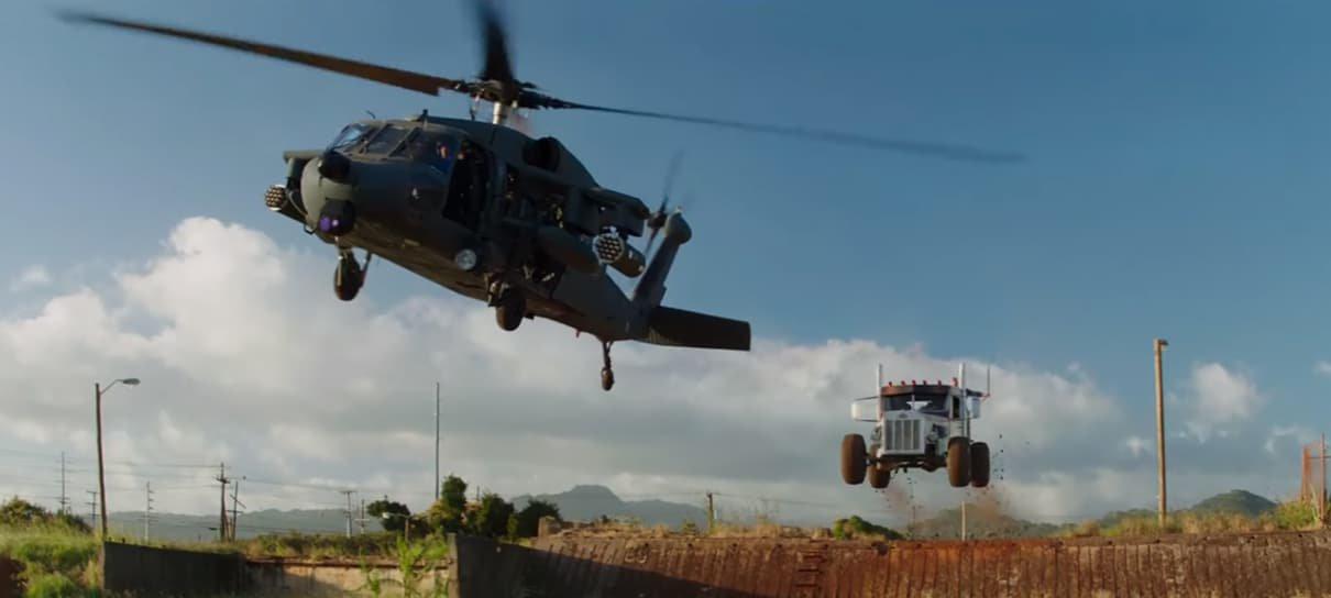 Você pode se hospedar no helicóptero de Hobbs & Shaw