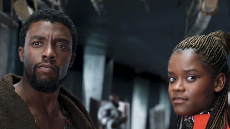 Letitia Wright, a Shuri de Pantera Negra, faz homenagem a Chadwick Boseman
