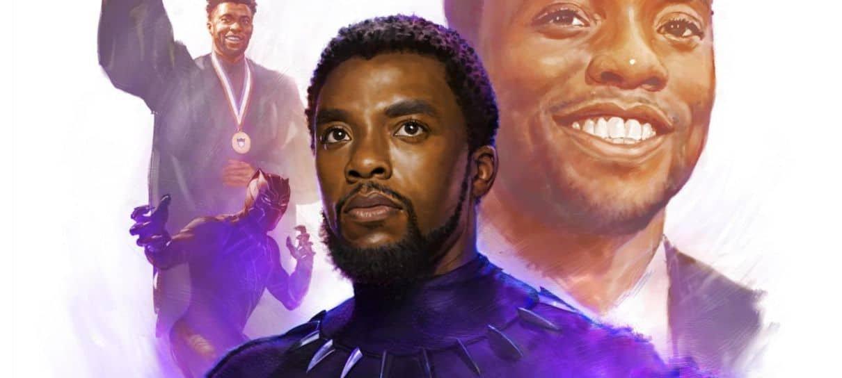Marvel Studios divulga arte em homenagem a Chadwick Boseman