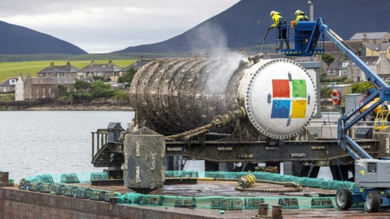 Microsoft compartilha resultados de teste com centro de processamento de dados subaquático