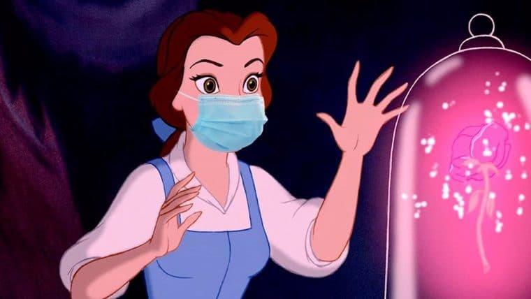 Paródia de A Bela e a Fera pede para que as pessoas usem máscara