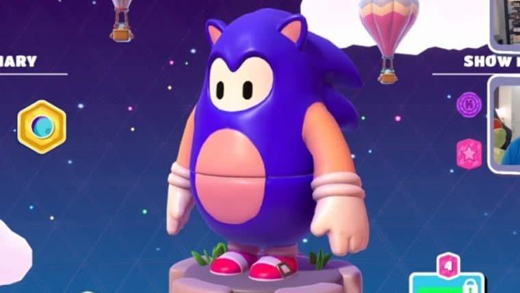 Fall Guys terá skin de Sonic para as jujubas