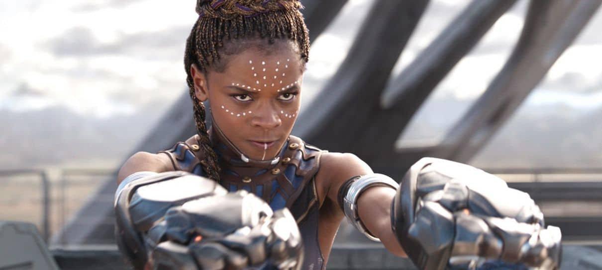 Letitia Wright diz que é estranho pensar em Pantera Negra 2 sem Chadwick Boseman