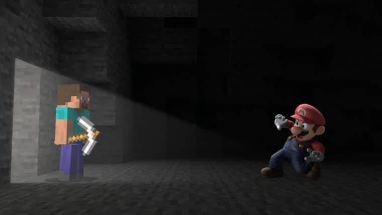 Steve, protagonista de Minecraft, é o novo personagem de Super Smash Bros.