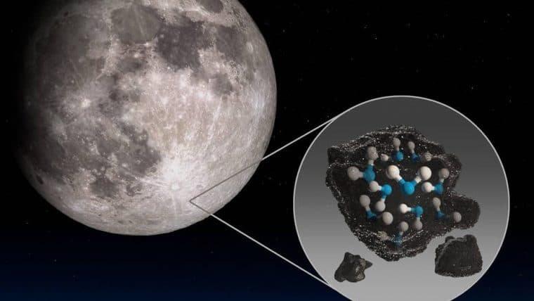 NASA revela presença de água molecular na Lua, em pontos tocados pelo Sol