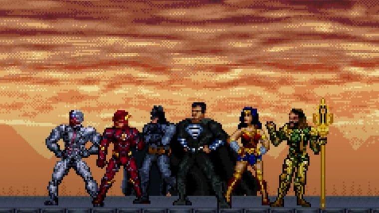 Liga da Justiça | Artista recria trailer do Snyder Cut em 16-bits; assista