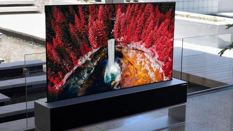 Essa TV se enrola na própria base e custa US$ 87 mil