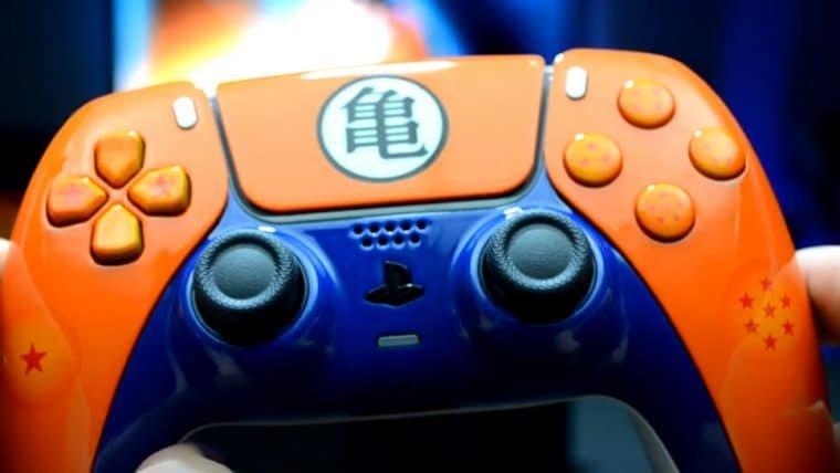 Controle de PS5 customizado com tema de Dragon Ball Z tem mais de 8 mil de poder