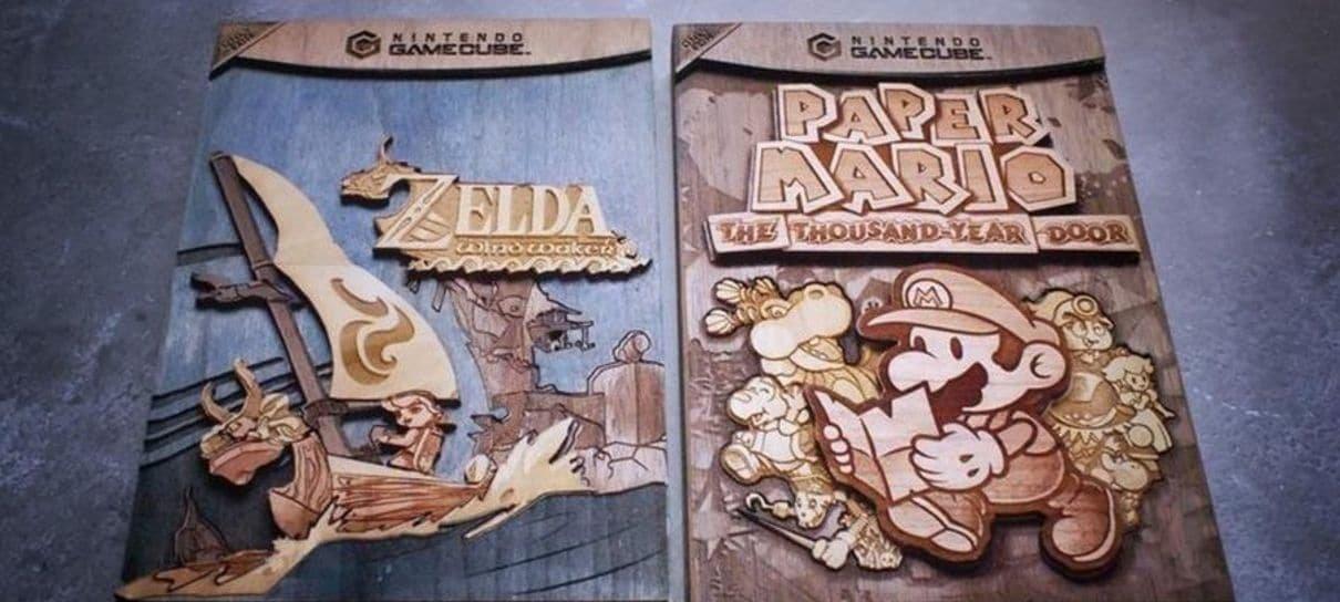 Caixas de jogos feitas em madeira são presentes perfeitos para quem ama games retrô
