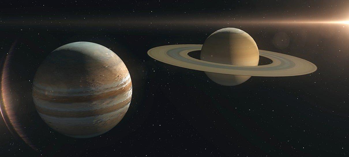 Jupiter e Saturno protagonizam fenômeno raro que não acontece desde o século XVII