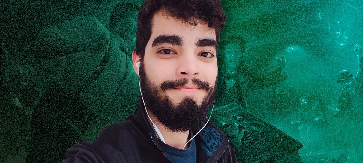 Matteo Santos usou o nerd power para se envolver no Nerdcast RPG: Coleção Cthulhu