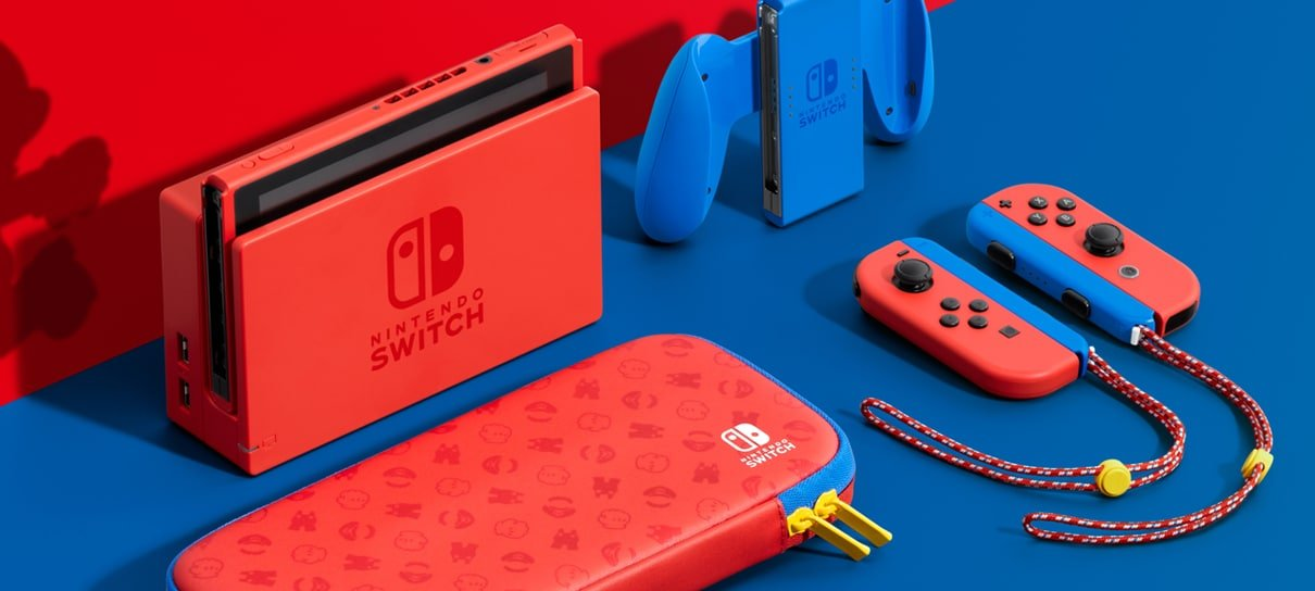 Nintendo anuncia versão do Switch inspirada no visual do Mario
