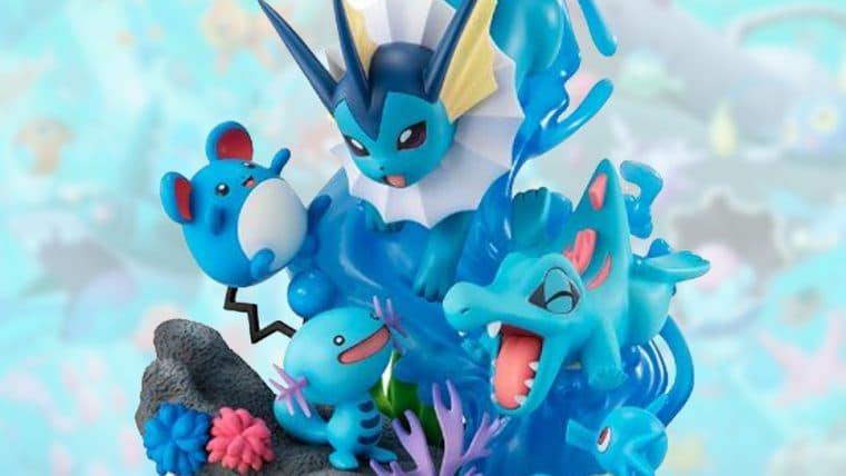 Estatueta reúne Pokémon de água das primeiras gerações