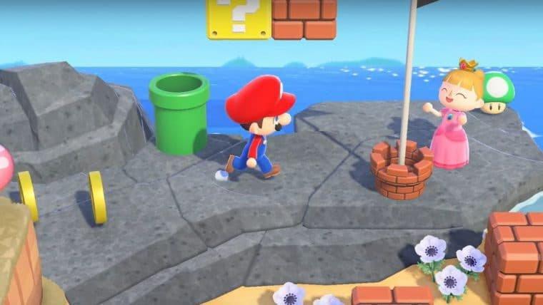 Animal Crossing: New Horizons | Nova atualização trará itens de Super Mario