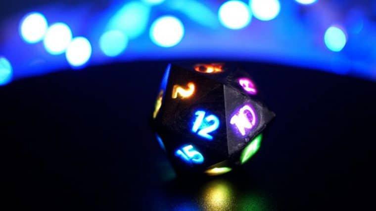 Esses dados com LED deixam suas sessões de RPG ainda mais emocionantes