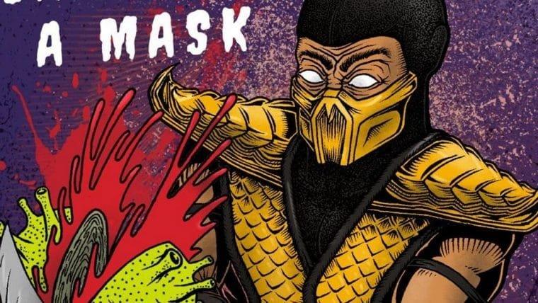 Mortal Kombat | Scorpion promove o uso de máscara de um jeito sangrento em arte de fã