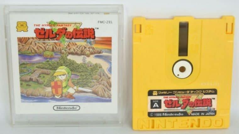 O primeiro The Legend of Zelda para Famicon Disk System