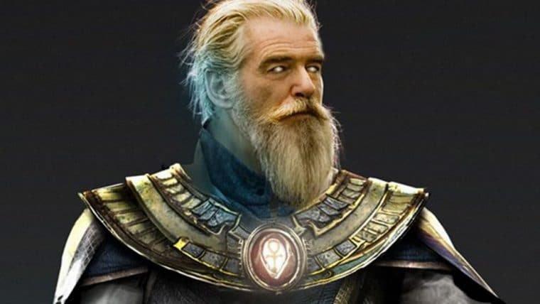 Arte de Bosslogic imagina Pierce Brosnan caracterizado como Senhor Destino