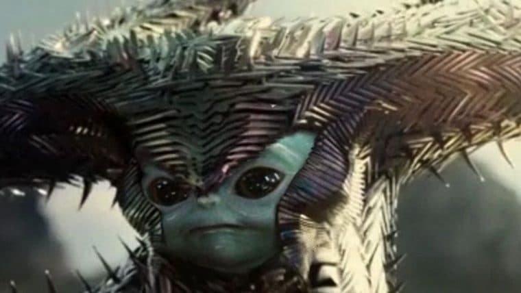 Baby Yoda vira Lobo da Estepe do Snyder Cut em arte de fã
