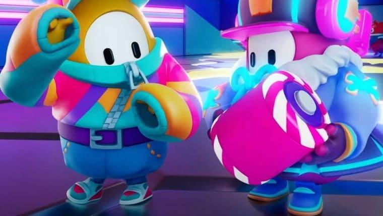 Fall Guys divulga vídeo de nova fase em equipe que envolve discoteca e baterias