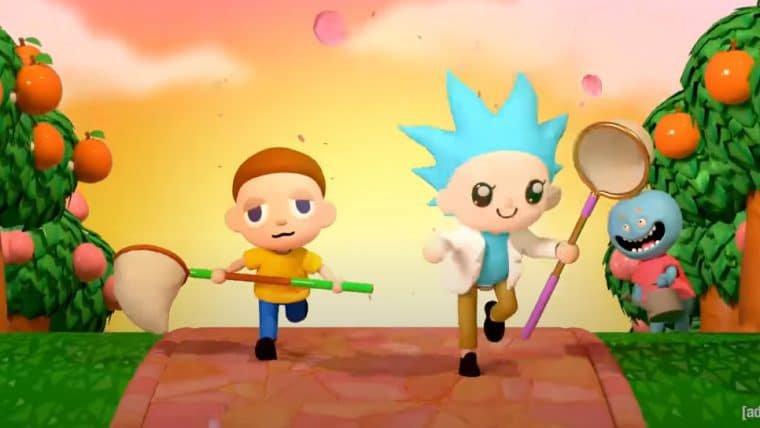 Novo vídeo de Rick and Morty mostra dupla como personagens de Animal Crossing