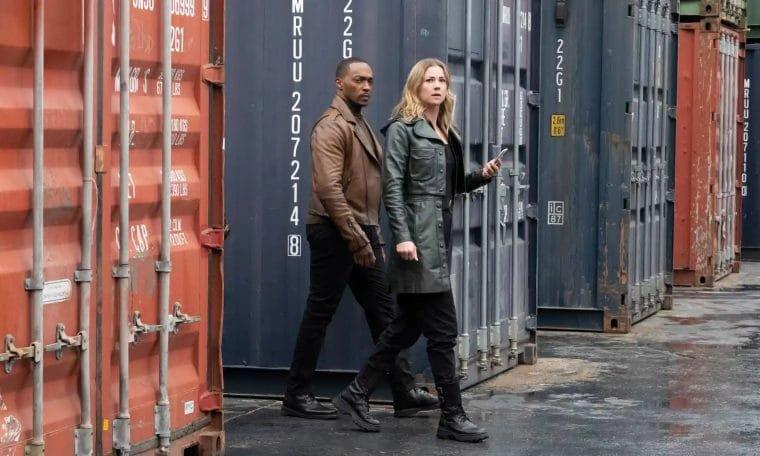 Sam e Sharon em Falcao e o Soldado Invernal