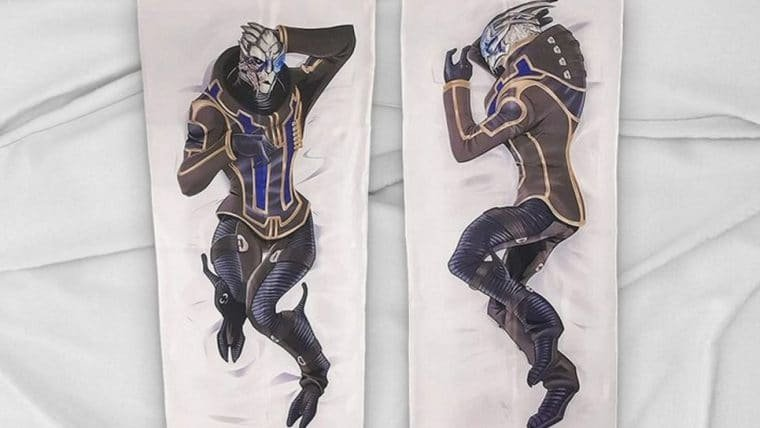 Loja oficial da BioWare anuncia travesseiro de corpo do Garrus, de Mass Effect