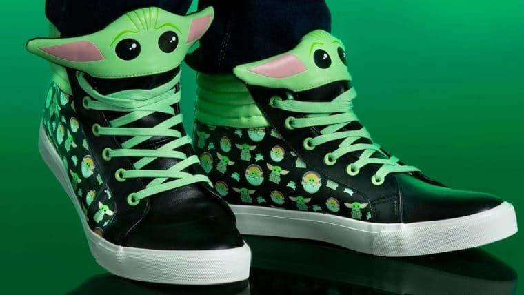 Tênis do Baby Yoda é o calçado mais fofinho da galáxia
