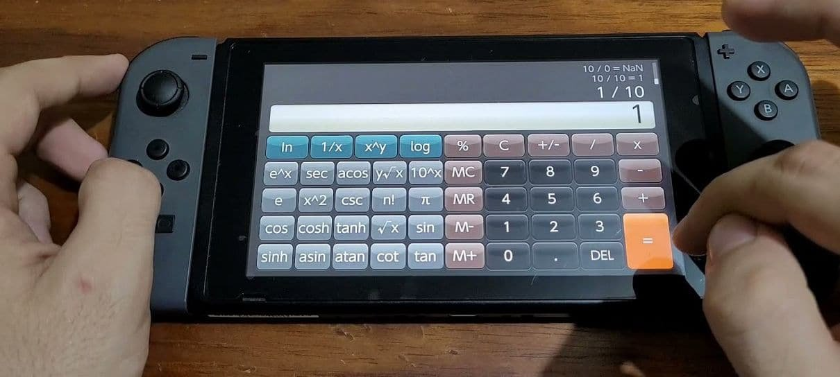 Aplicativo de calculadora chega ao Nintendo Switch por R$ 50