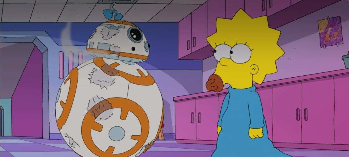 Os Simpsons e Star Wars se encontram em Maggie Simpson em O Despertar Com Força da Soneca