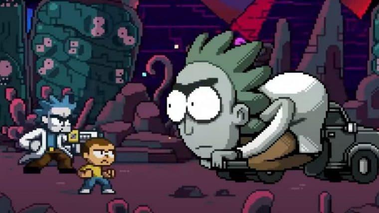 Rick and Morty se transforma em jogo com estilo pixel art em vídeo especial