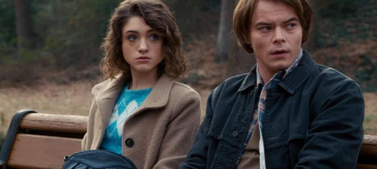 Fotos dos bastidores de Stranger Things mostram atores em um cemitério