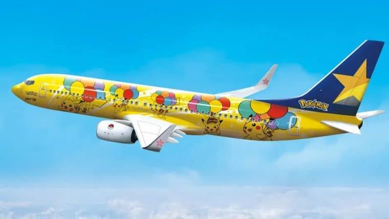 Avião temático de Pikachu decola no Japão